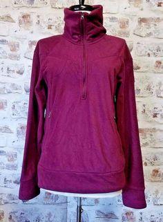 The North Face Genevieve 1/2 Zip Fleece jacket Womens sz M Print Maroon RARE #TheNorthFace #FleeceJacket #Outdoor