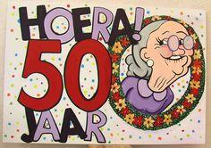 Verjaardagskaart 50 Jaar : Verjaardag 50 Jaar - Uitnodigingmaker - Uitnodigingmaker