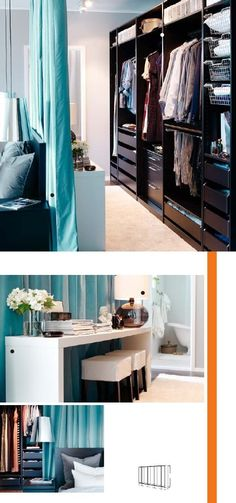 Closet behind bed again, use curtain or padded plywood 'headboard' to ...