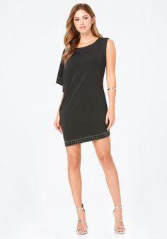 Embellished 1-Sleeve Dress