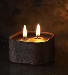 Concrete Forms for Handmade Candles Maybe?   Outlaw Scented Beeswax Candle by Wild Well Supply on Scoutmob Shoppe