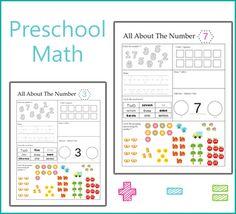 Preschool Math Worksheet