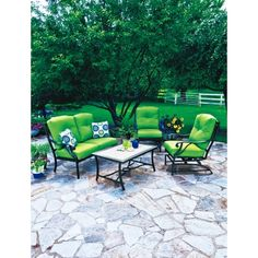 Somerset 4 Piece Deep Seating Set - Cilantro - All Patio Collections - Ace Hardware