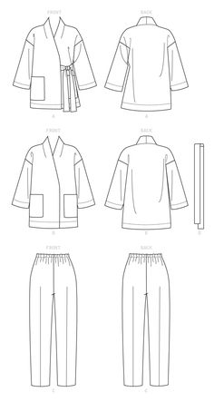 Skirt Patterns Sewing, Vogue Sewing Patterns, Vintage Sewing Patterns, Fashion Sketch Template, Fashion Design Sketches, Sketch Design, Blazer, Sewing Blogs, Diy Clothes