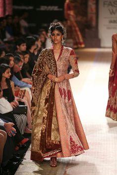 Anarkali by Anju Modi at Lakme Fashion Week 2014
