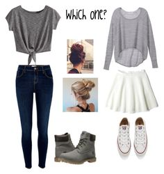 """""""Which one?!?!"""" by missyt123 on Polyvore featuring River Island, Timberland, Victoria's Secret, DKNY and Converse"""