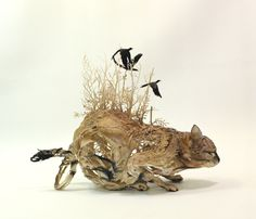 Gorgeously Surreal Sculptures Intricately Fuse Animals with Nature - My Modern Met