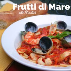 Take a trip to Italy! Calamari, shrimp and clams are complimented by savory saffron and thick bucatini!
