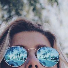 aesthetic, blue, cute, fashion, happy, instagram, model, style, summer, sunglasses, theme, tropical, tumblr, pale grunge, First Set on Favim.com