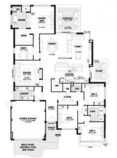 Floor Plan Friday U Shaped 5 Bedroom Family Home Hamby