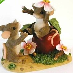 "Fitz and Floyd Charming Tails ""Apple of My Eye"" #89/110 Limited Edition 2000 - NIB"
