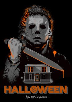 Shop Halloween michael myers t-shirts designed by as well as other michael myers merchandise at TeePublic. Halloween Movies, Halloween 2018, Halloween Horror, Scary Movies, Halloween Design, Horror Icons, Horror Movie Posters, Horror Films, Tattoo Ideas