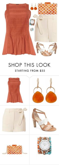 """Rust"" by petalp ❤ liked on Polyvore featuring Dorothy Perkins, Melissa Joy Manning, Helmut Lang, Seychelles, MANGO, Sara Designs, Karen Kane, shorts and ootd"