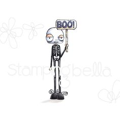 Stamping Bella -Oddball Skelaton is a bit thin! What a cute little set of bones for your spooky creation. Halloween Drawings, Halloween Cards, Halloween Decorations, October Crafts, Chalk Wall, Bullet Journal Banner, Card Making Supplies, Junk Art, Cricut Cards