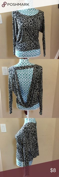 Express black leopard blouse Express blouse size small! In great condition! Express Tops Blouses