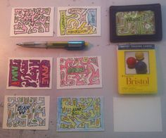 Jim Bickford--Artist Trading Cards resized 2. Praying in Color on ATCs.