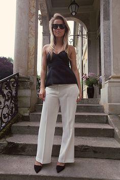 Corset top & slacks