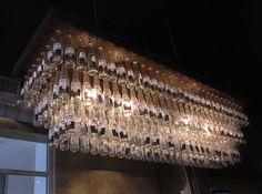 Corona chandelier post consumer waste lightsfans pinterest corona bottle chandelier mozeypictures Images