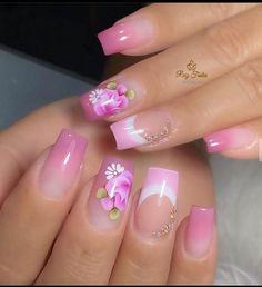 Cute Nails, Pretty Nails, Nail Stencils, Rose Gold Nails, Manicure And Pedicure, Acrylic Nails, My Design, Nail Polish, Nail Art