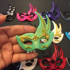 Masquerade Masks Cupcake Toppers Set of 12 Assorted Colors