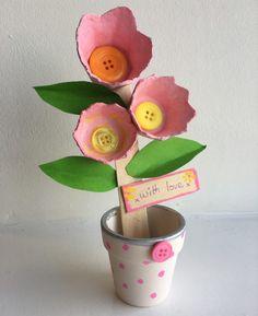 Egg box flower craft