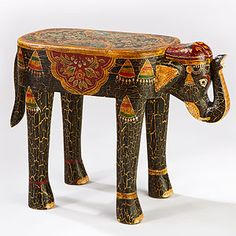 Elephants are one of the animals I just think is so majestic. I love this piece because of the color and design!