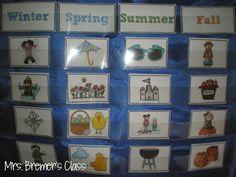 Four Seasons Activities and Season Sorting Seasons Activities, Weather Activities, Autism Activities, Teaching Activities, Teaching Science, Science Room, Seasons Lessons, September Preschool, March