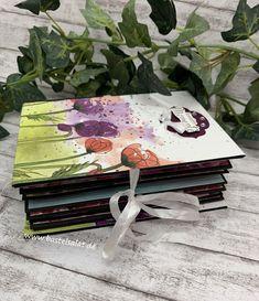 Scrapbooking Album, Stampin Up Anleitung, Mini Albums Scrap, Handmade Books, Mini Books, Decorative Boxes, Blog, Paper Crafts, Layout