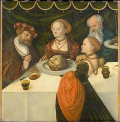 Lucas Cranach the Elder, Herode, Salome, Herodias and the head of Saint John