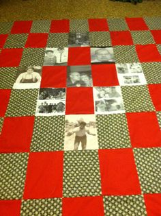 A quilt for my mother in law of her late husband it's been a year and we all miss him dearly