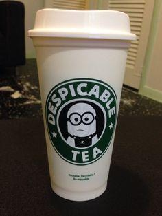 Starbucks minion cup
