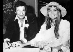 Twiggy and actor Michael Witney wedding -- 1977