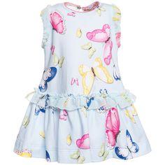 Abito jersey st. farfalle Bambina, Shop Online | Monnalisa