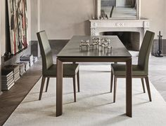 Calligaris Omnia Extending Dining Table Cermaic stone surface
