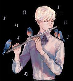 Bird musicians.  ALMOST AS COOL AS YOU kelpls.tumblr.com