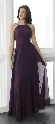 Christina Wu Celebration 22787 is a long bridesmaid dress that features a  high neck lace bodice with a double spaghetti strap neckline and open back.  A lace ... 640f7fb74759