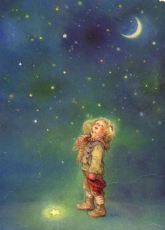 Lisi Martin is a Spanish artist and illustrator famous for her highly detailed and romanticized pictures of children. Lisi was born in Barcelona, Catalonia in Vintage Christmas Cards, Christmas Art, Vintage Cards, Vintage Images, Illustration Mignonne, Illustration Noel, Illustrations, Spanish Artists, Moon Art