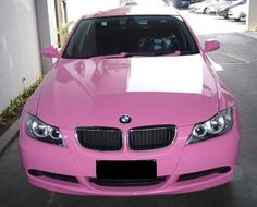 Pink BMW ... hahah I was thinking of doing this to my car at one point!