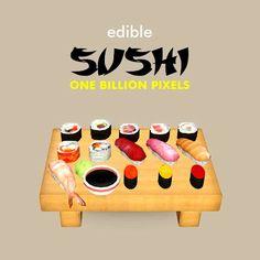 One Billion Pixels: Edible Sushi