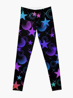 'Stars 'n Stuff Pattern' Leggings by HavenDesign Leggings Fashion, Women's Leggings, Pattern Leggings, Profile Design, Abstract Pattern, I Shop, Girl Fashion, Stars, Girls