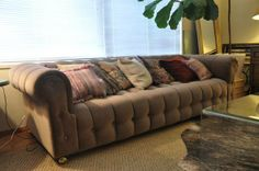 Vintage Tufted Chesterfield Sofa - $800 (west portal / forest hill)