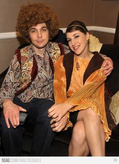 Sheldon and Amy, 70's style