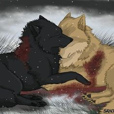 wolf's rain hige and blue l