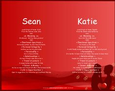 Sean and Katie - Name Meaning | Dual Names