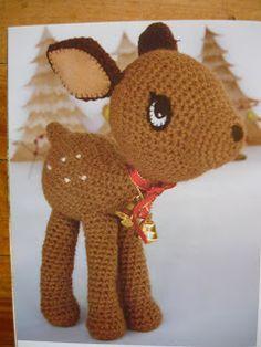 My Crochet , Mis Tejidos: Venadito para Navidad !
