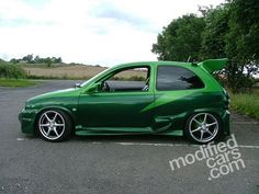 Modified Vauxhall Corsa pimped up for racing around the streets Chevy, Chevrolet, Corsa Wind, General Motors, Cool Cars, Racing, Madness, Vehicles, Collections