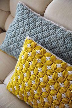 Rectangular hand embroidered fabric cushion SILAÏ | Rectangular cushion by GAN
