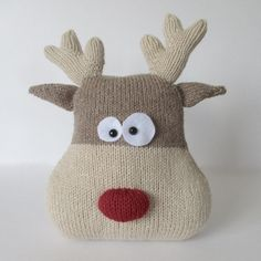 Reindeer Cushion Knitting pattern by Amanda Berry | Knitting Patterns | LoveKnitting
