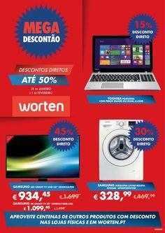 MEGA DESCONTÃO: discontos diretos até 50€ 31 de Janeiro a 01 de Fevereiro