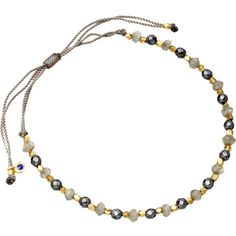 ASTLEY CLARKE 18ct gold vermeil grey cord bracelet ($79) ❤ liked on Polyvore featuring jewelry, bracelets, grey, star jewelry, charm bangles, rope bracelet, astley clarke and beaded cord bracelet